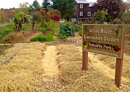 The community garden in White River Junction, VT offers residents a place to learn about agriculture and an opportunity to grow their own food.