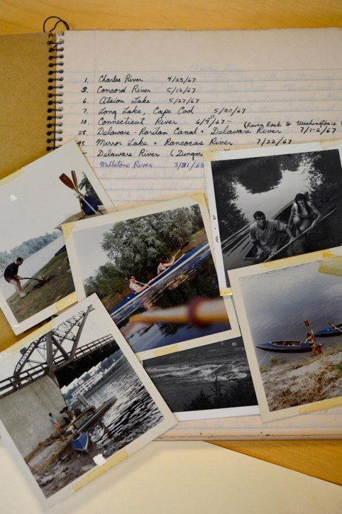 These photos of a young Dana Meadows can be found in one of her early journals in the Rauner Library collection at Dartmouth College.
