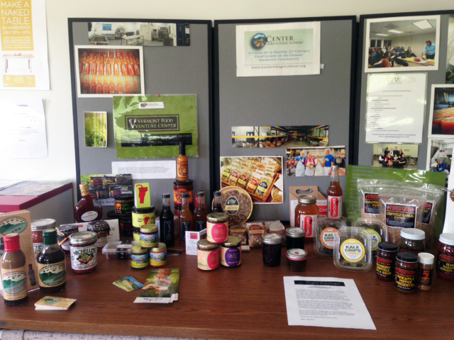 A display of local food products