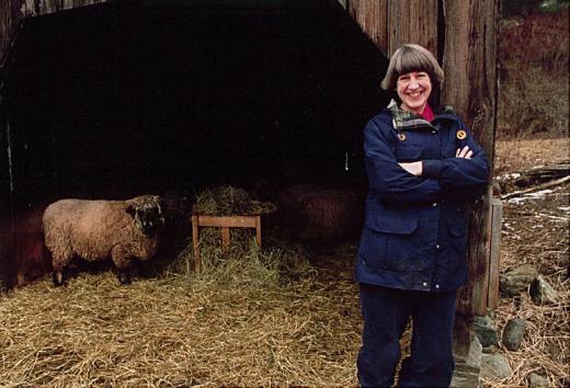 Dana on the farm